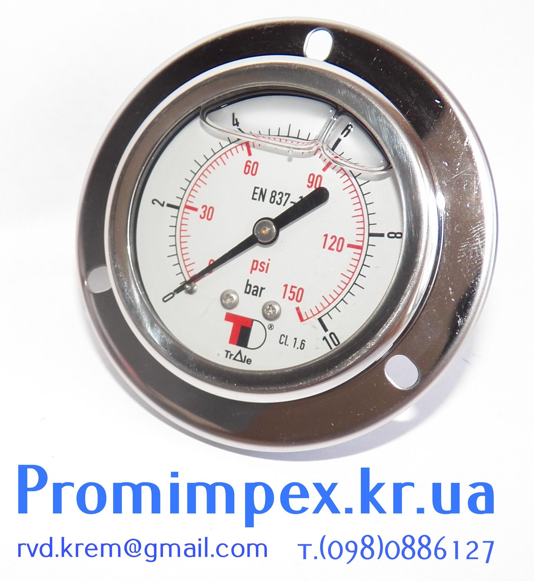 манометр гидравлический 10 Bar (фланец)