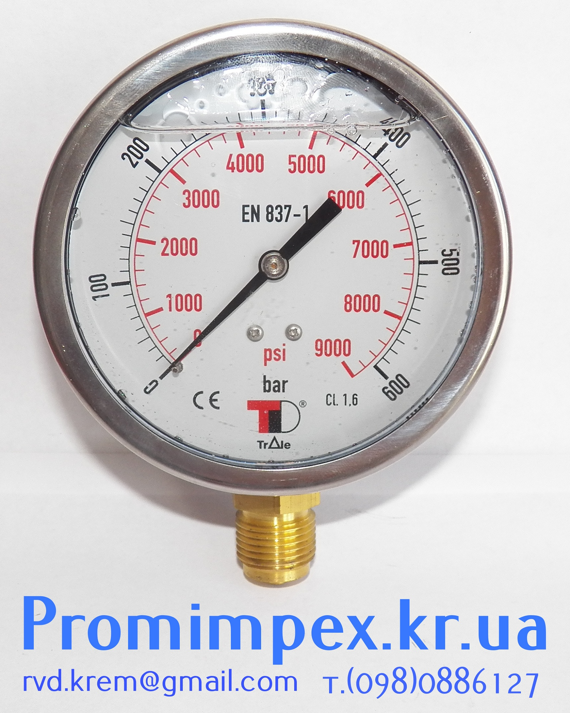 манометр гидравлический 600Bar