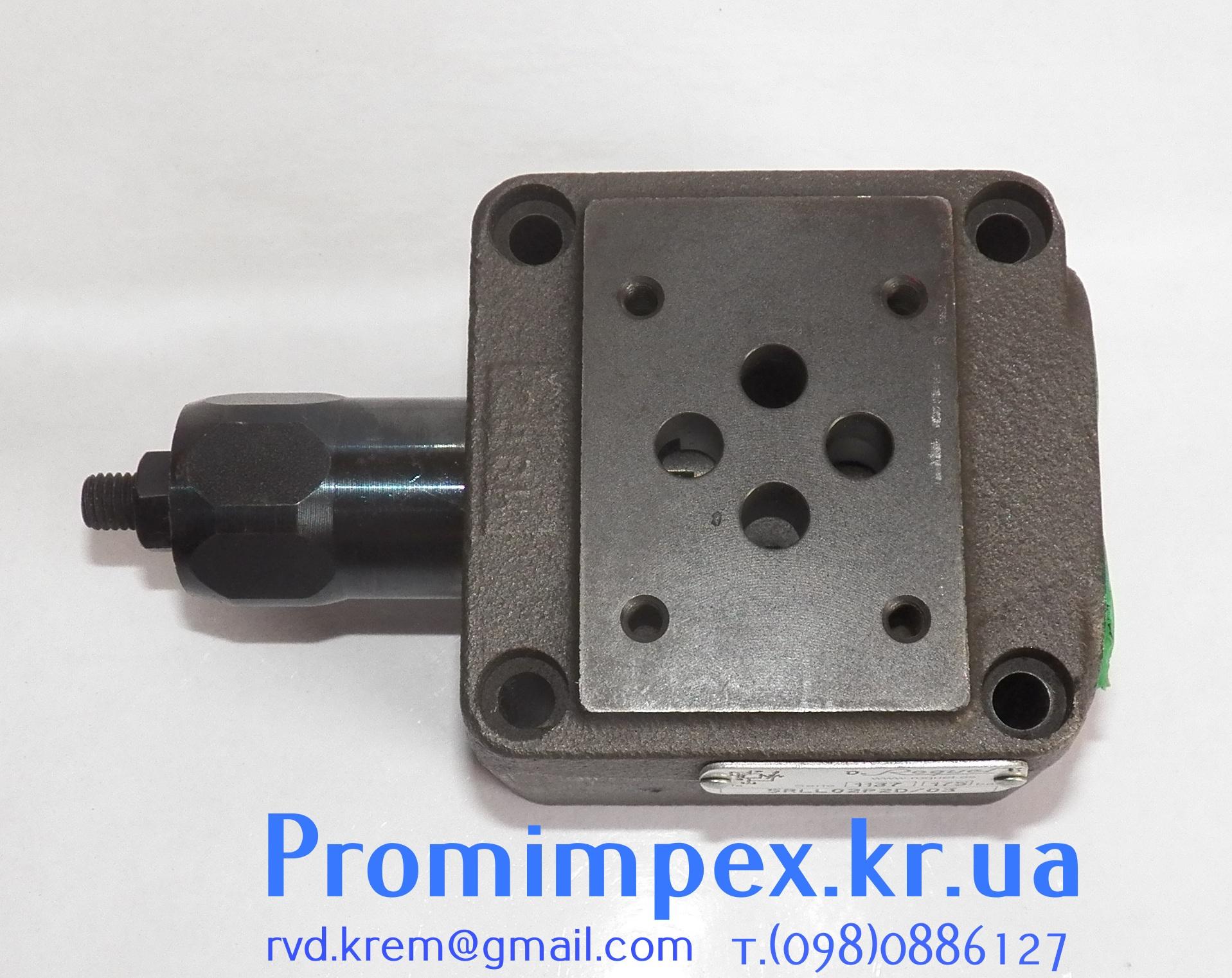 Плита монтажная для гидравлических распределителей с предохранительным клапаном